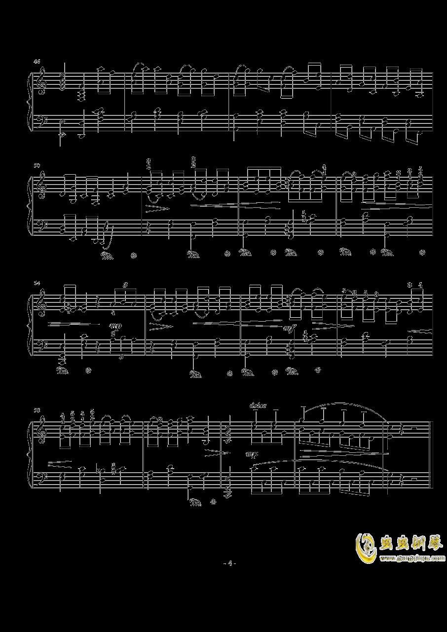 加沃特舞曲钢琴谱 第4页