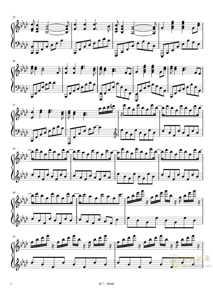 clocks-时钟钢琴谱 第2页