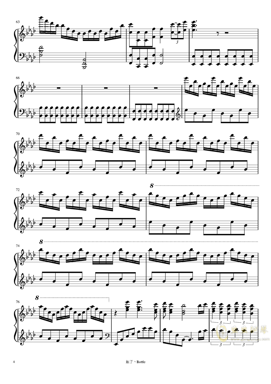 clocks-时钟钢琴谱 第4页