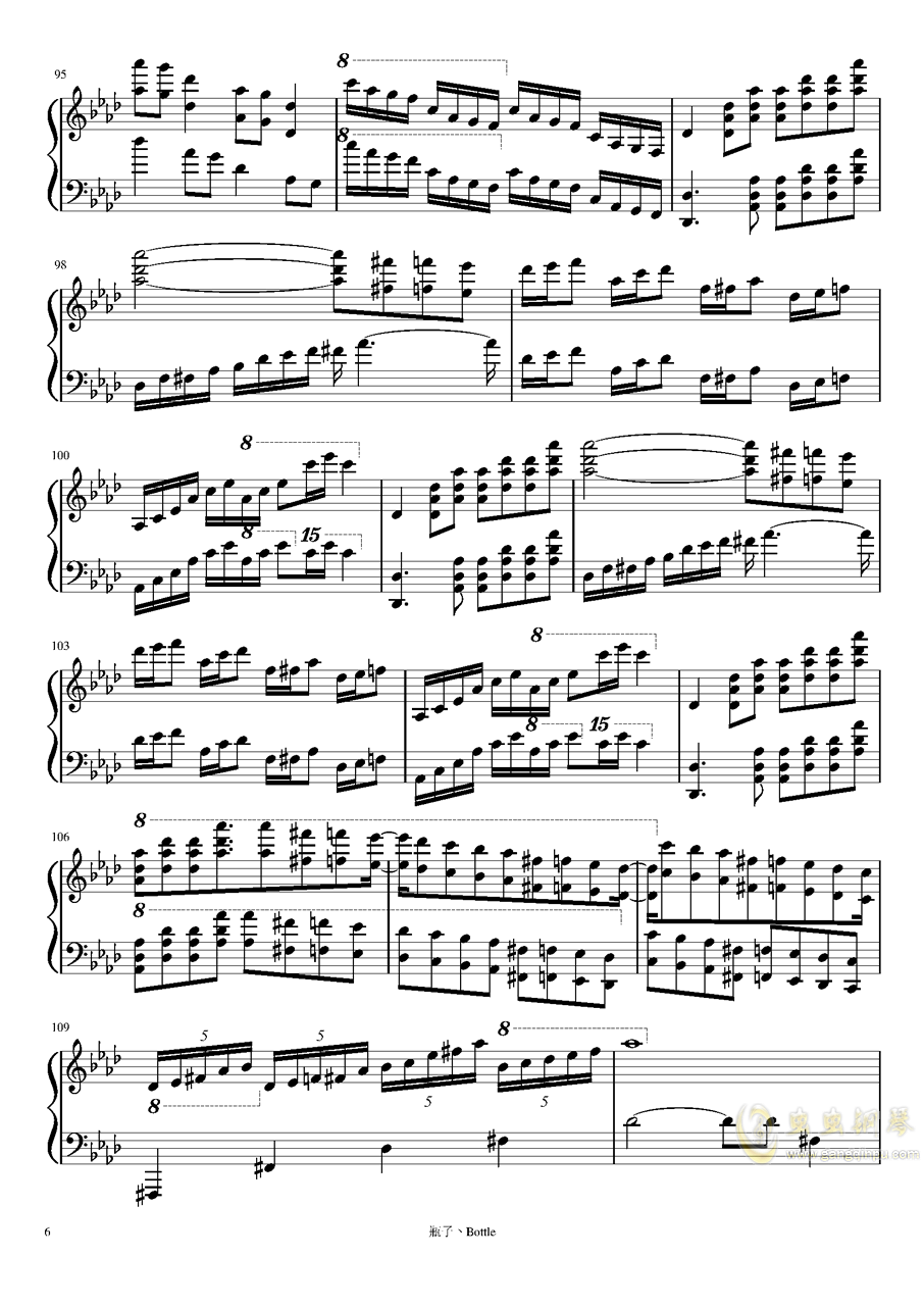 clocks-时钟钢琴谱 第6页