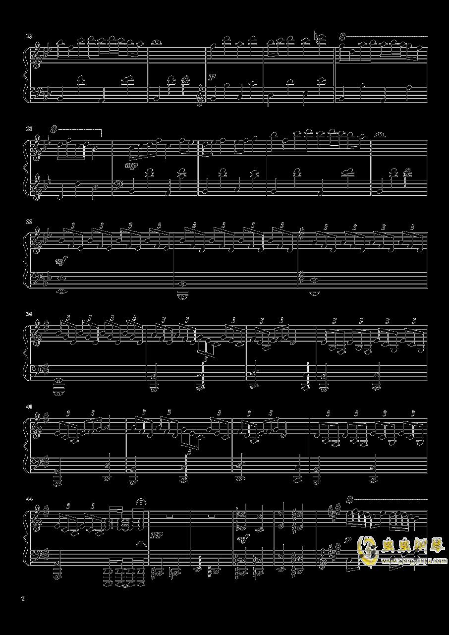 U.N. Owen的复仇钢琴谱 第2页