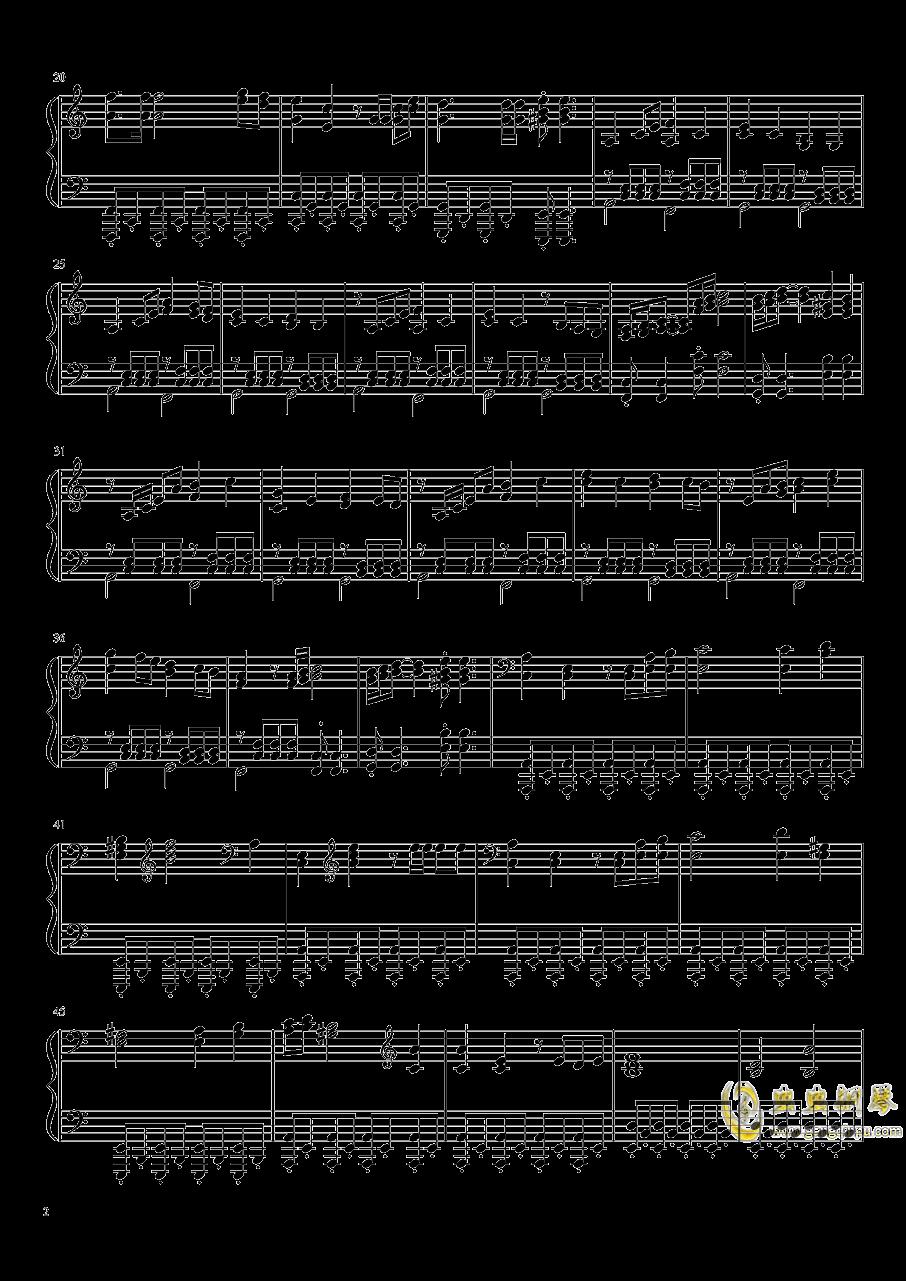 钢铁洪流进行曲钢琴谱 第2页
