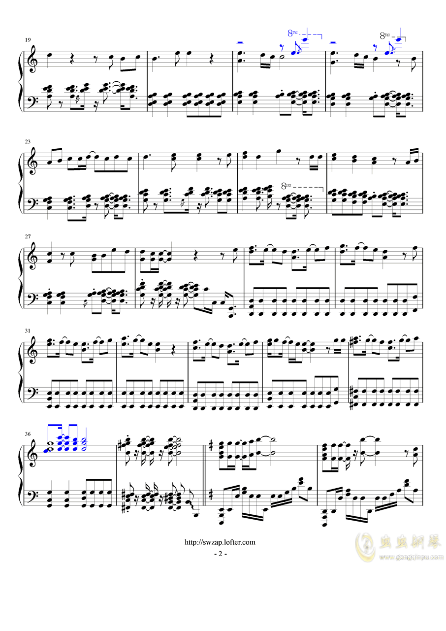 目撃者钢琴谱 第2页