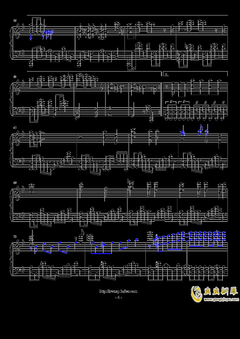 目撃者钢琴谱 第4页