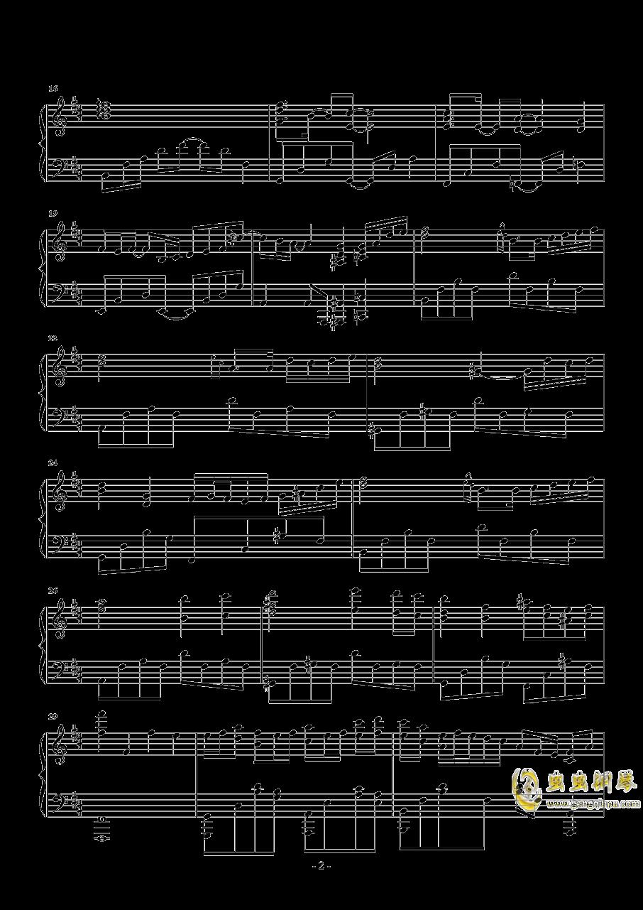 告白之夜钢琴谱 第2页