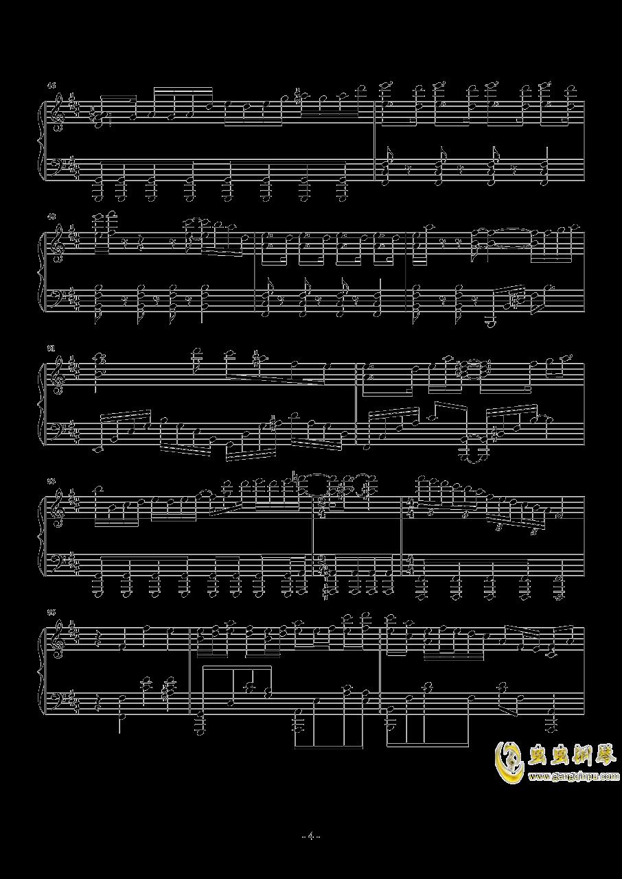 告白之夜钢琴谱 第4页