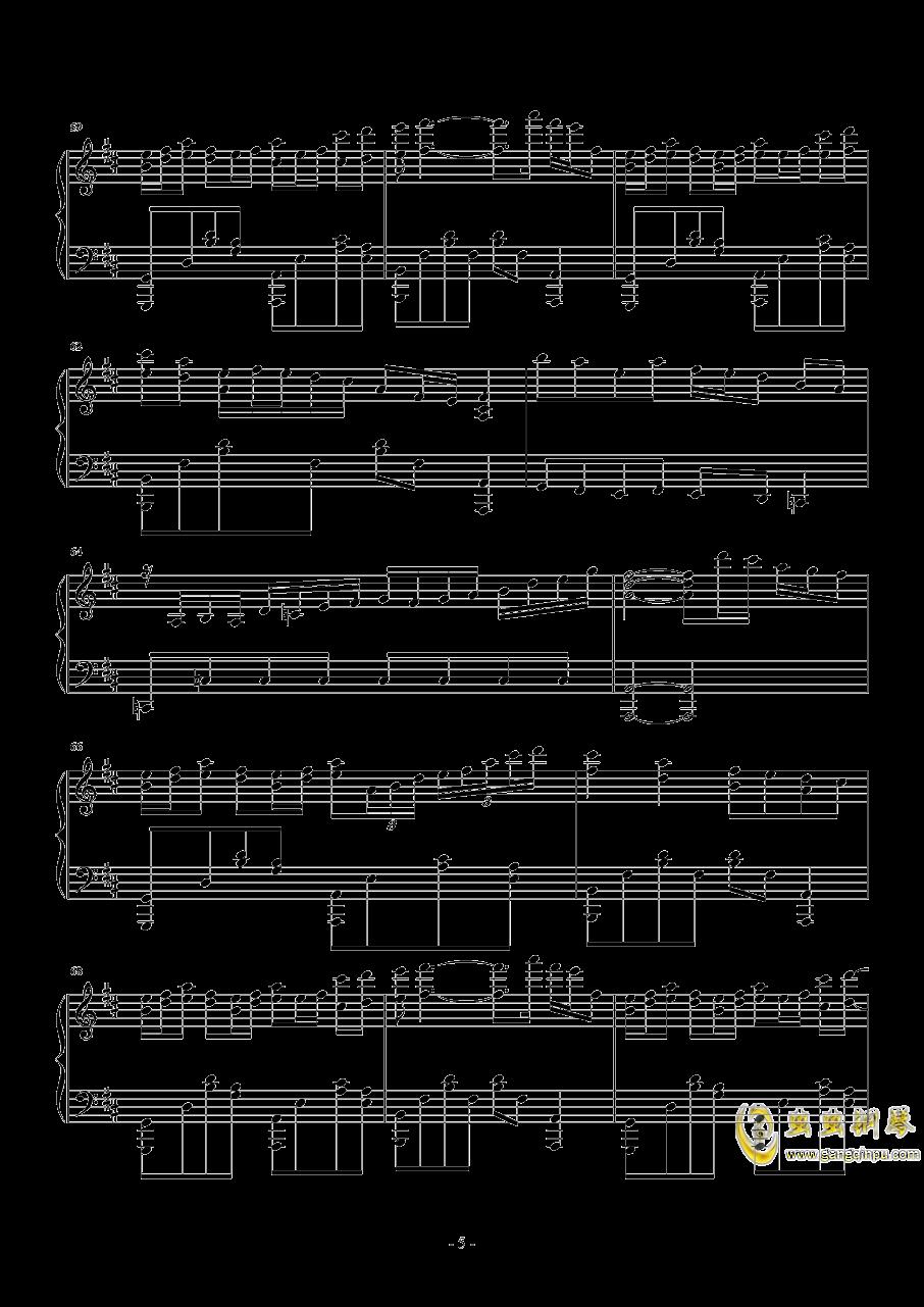告白之夜钢琴谱 第5页