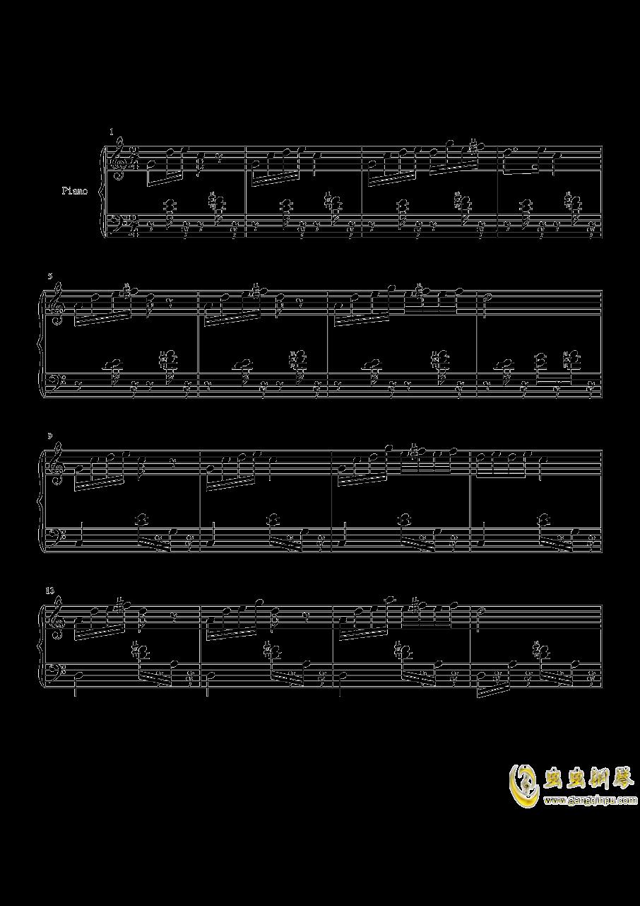 山水主题第三幻想曲钢琴谱 第1页