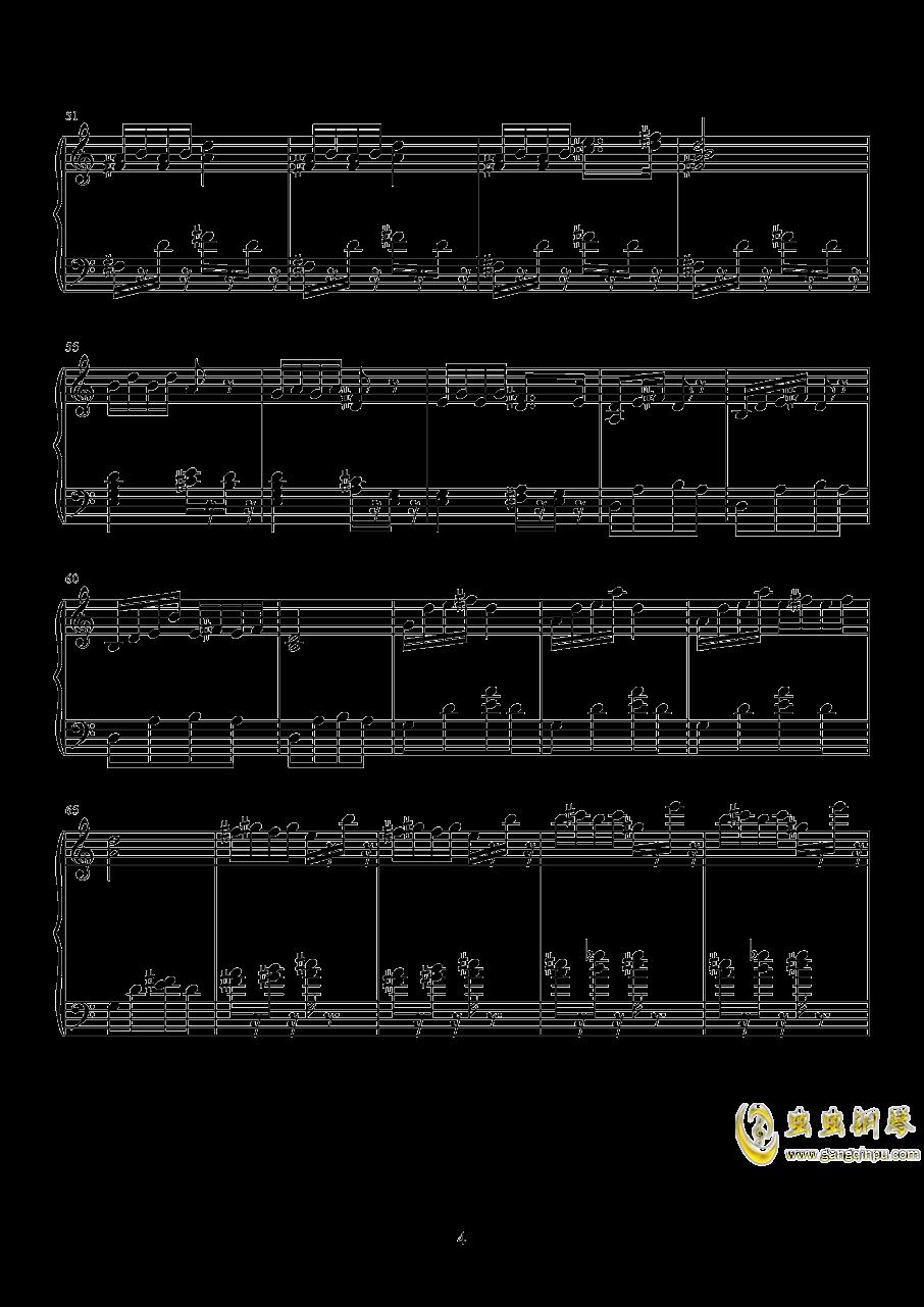 山水主题第三幻想曲钢琴谱 第4页