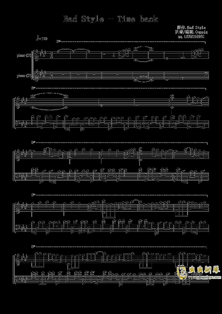 Time Back钢琴谱 第1页