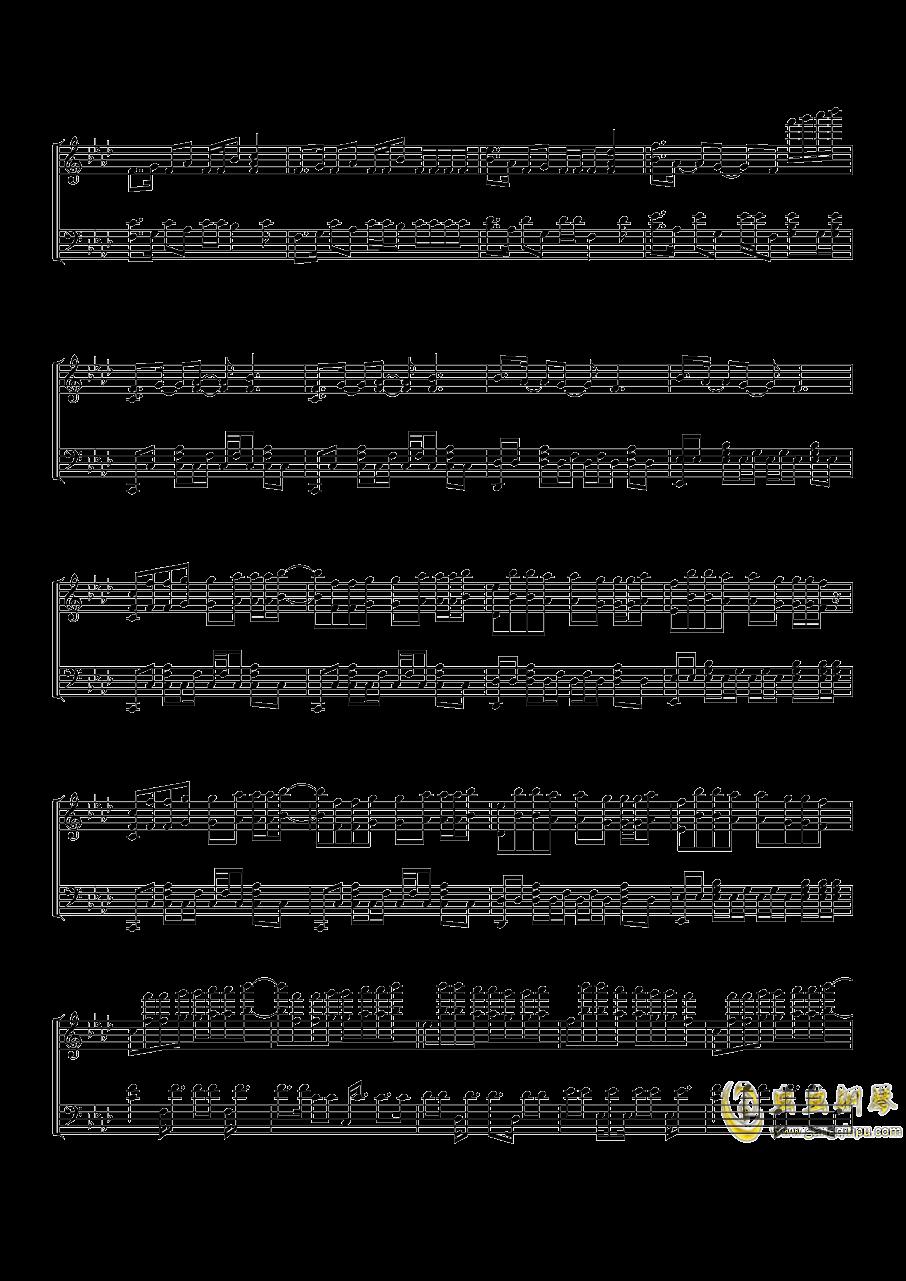 Time Back钢琴谱 第5页