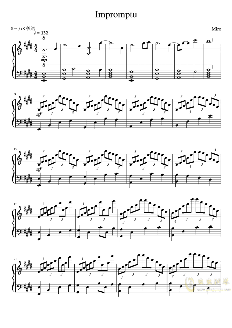 Impromptu�琴�V 第1�
