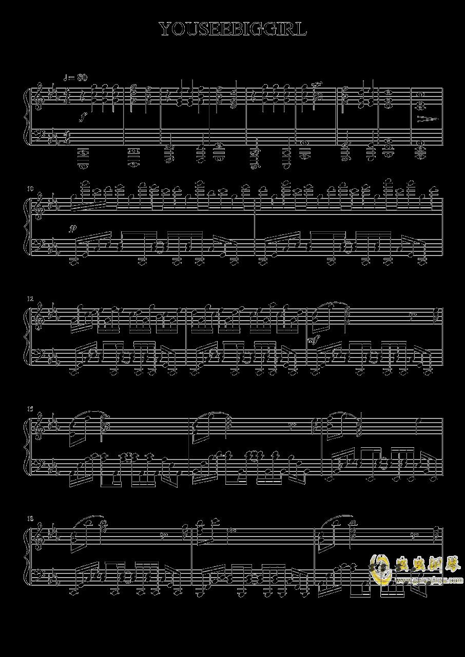 进击的巨人钢琴谱 第1页