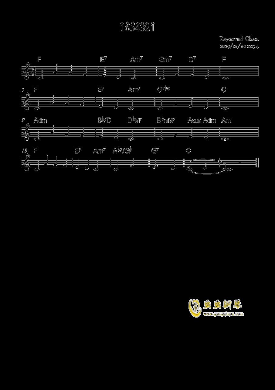 1654321钢琴谱 第1页