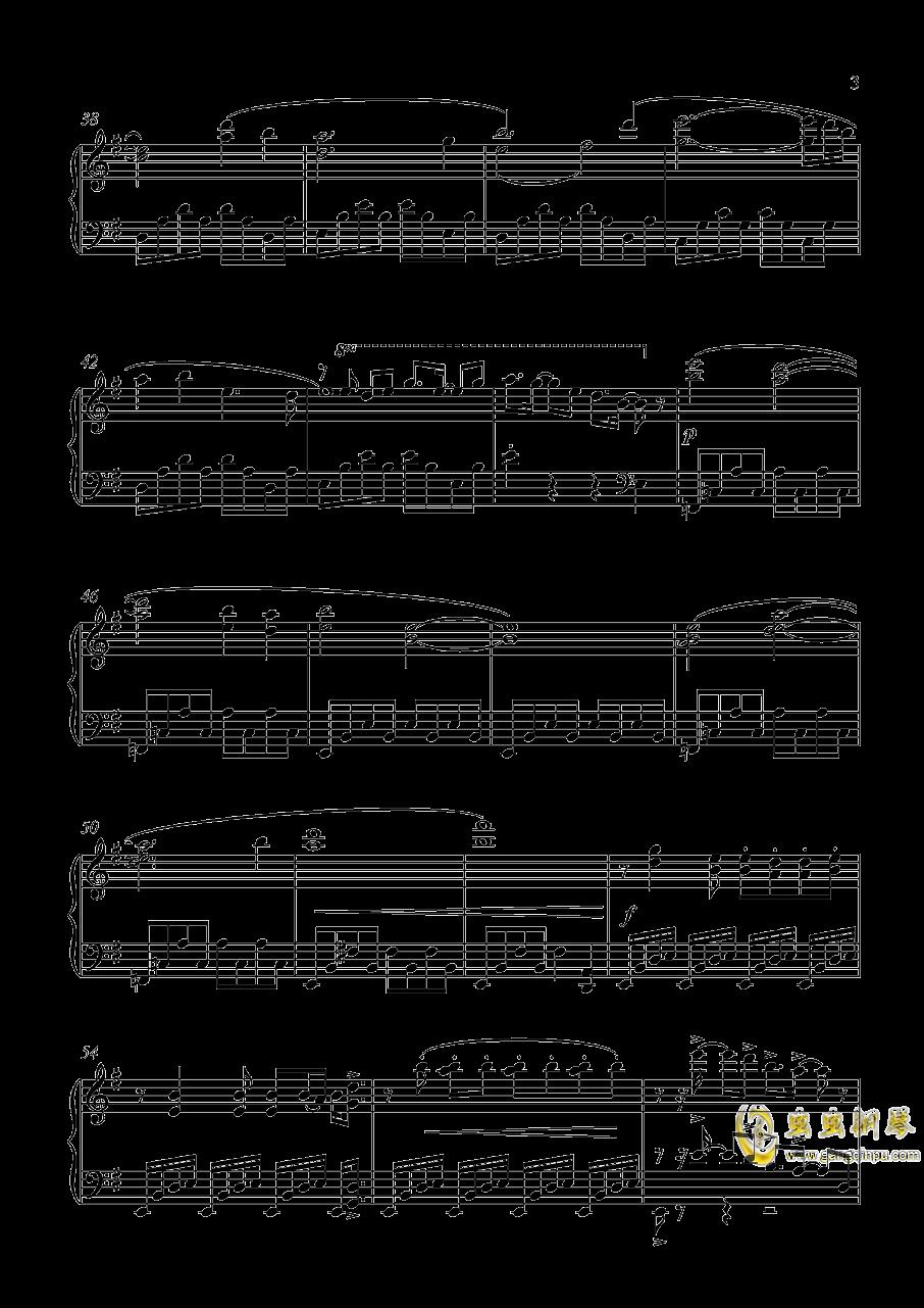 和泉守兼定 钢琴谱 第3页