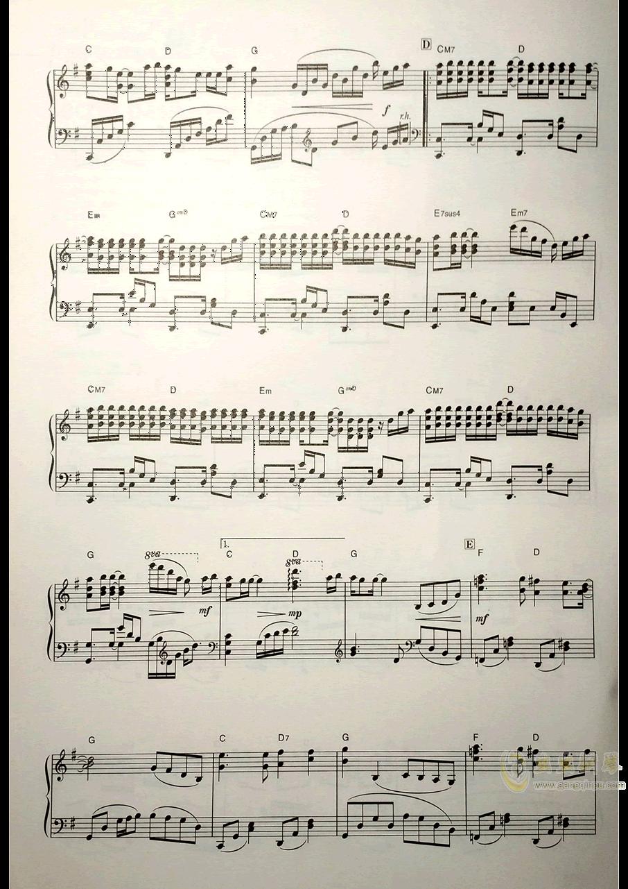 Secret Base钢琴谱 第3页