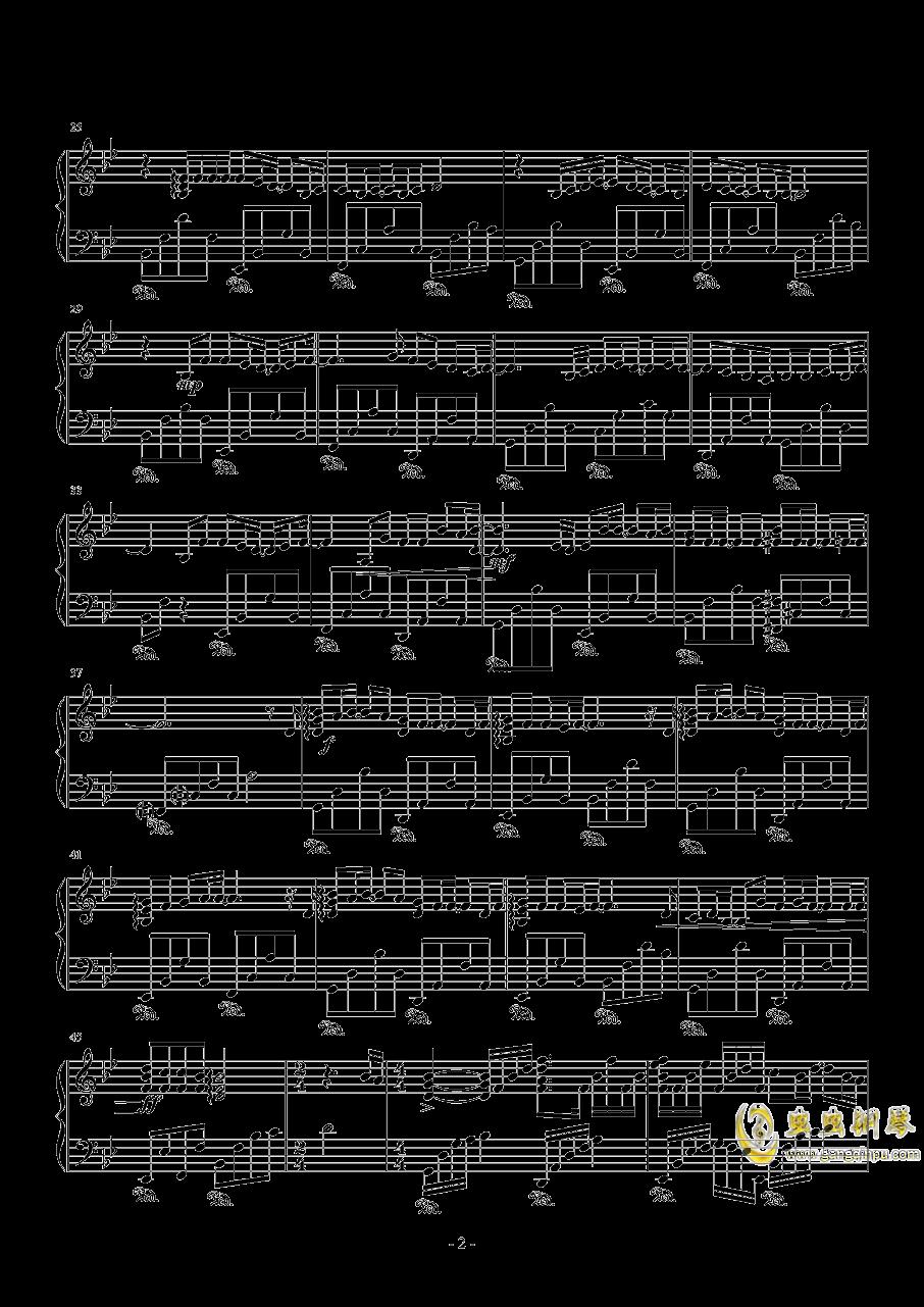セピア色钢琴谱 第2页