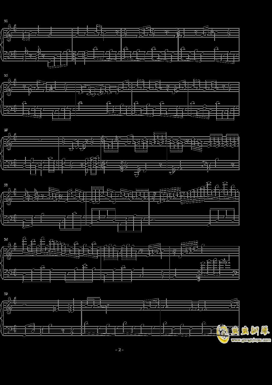忽然之间钢琴谱 第2页