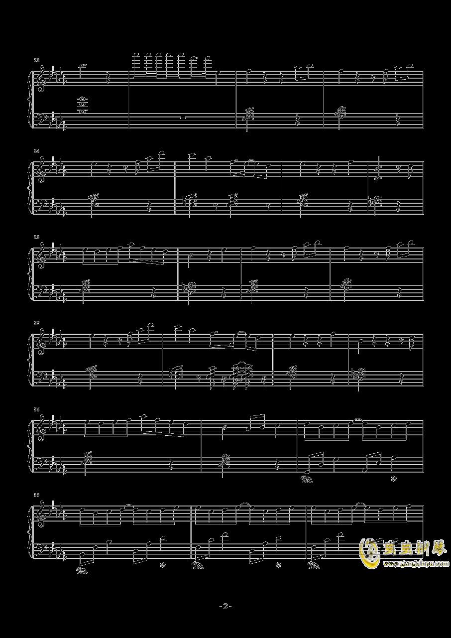 雨桜钢琴谱 第2页