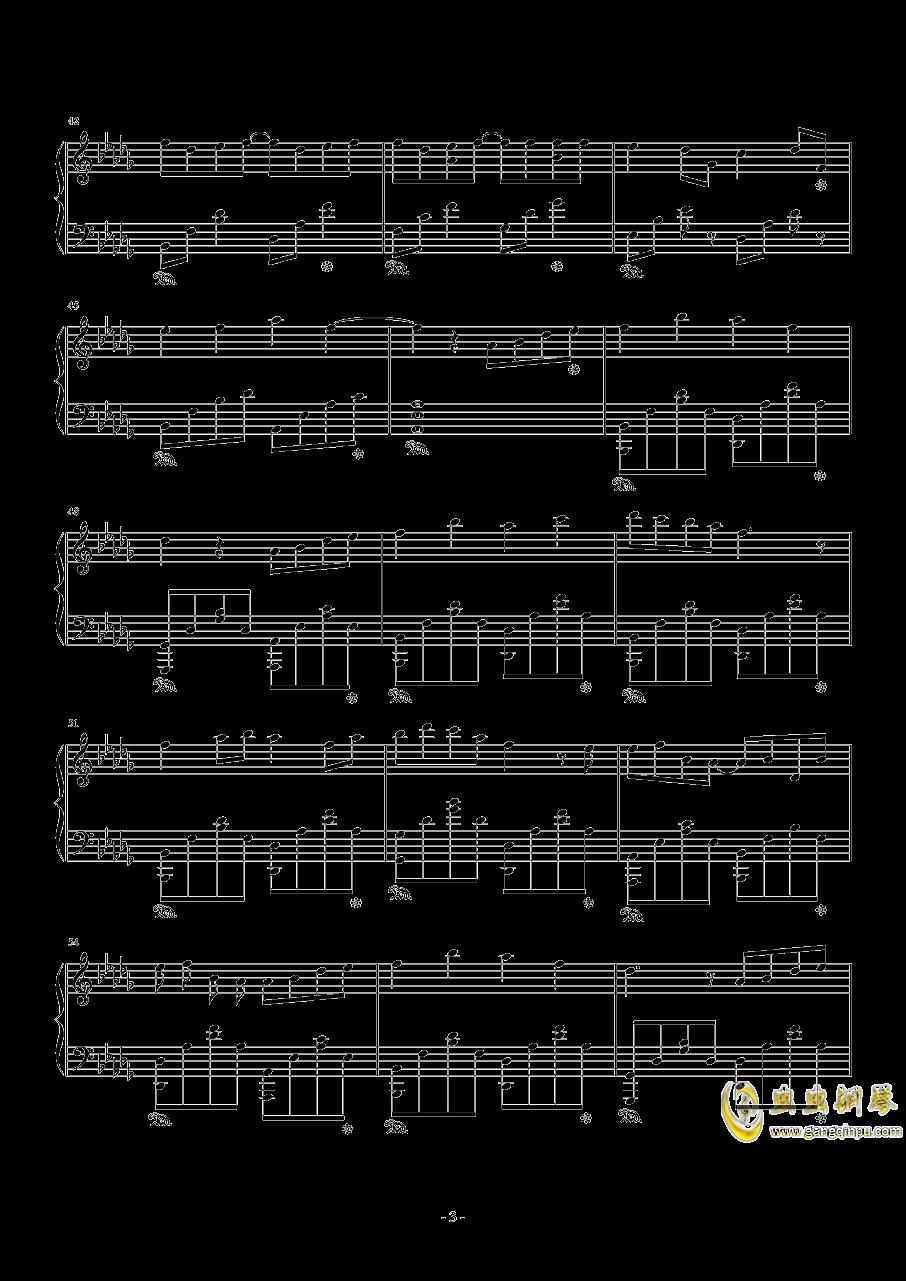雨�@钢琴谱 第3页