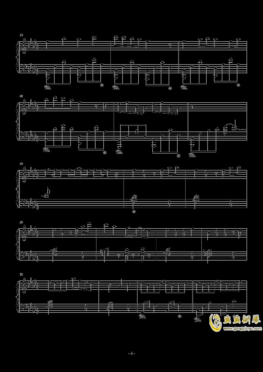 雨桜钢琴谱 第4页