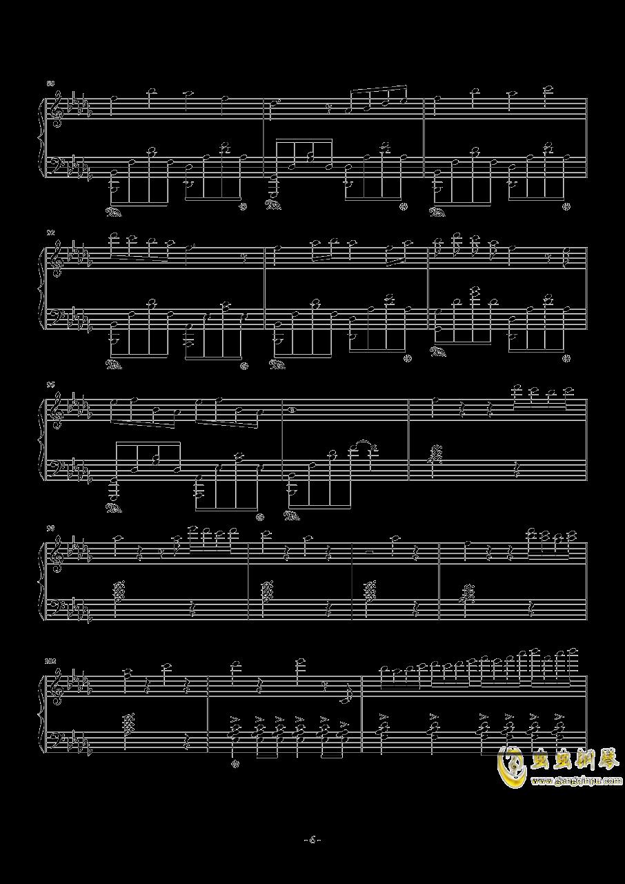 雨桜钢琴谱 第6页