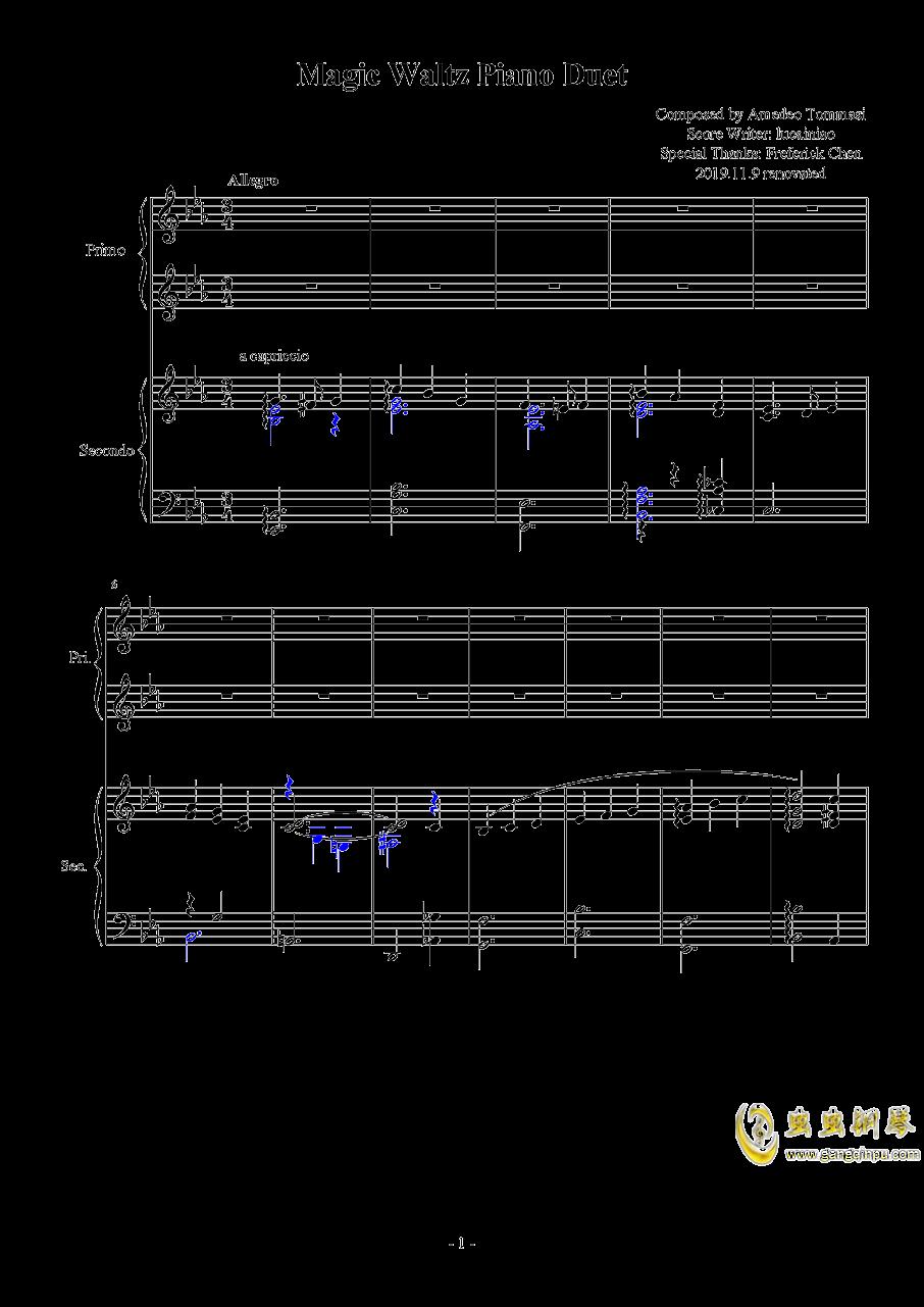 Magic Waltz Piano Duet�琴�V 第1�