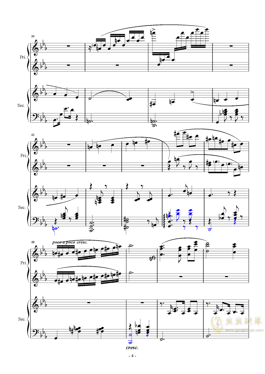 Magic Waltz Piano Duet�琴�V 第4�