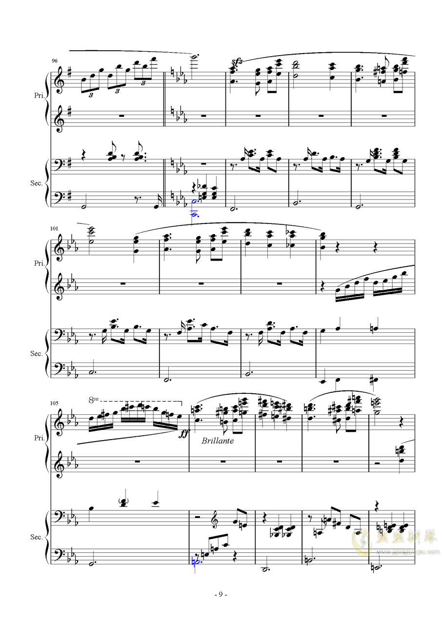 Magic Waltz Piano Duet�琴�V 第9�