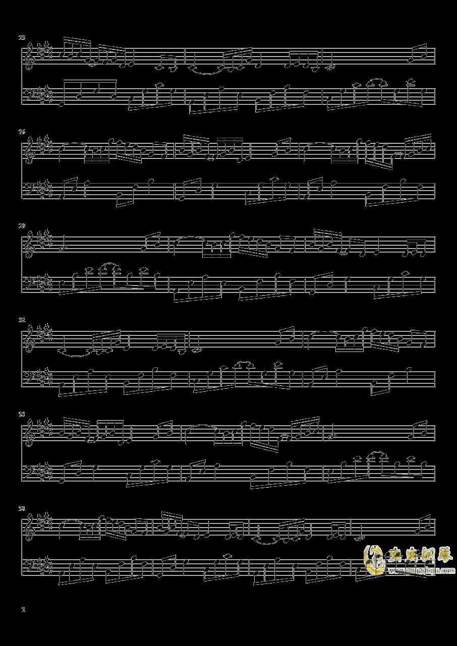 为霜钢琴谱 第2页
