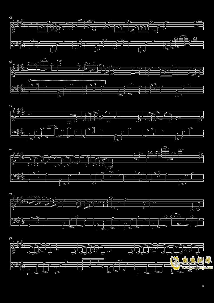 为霜钢琴谱 第3页