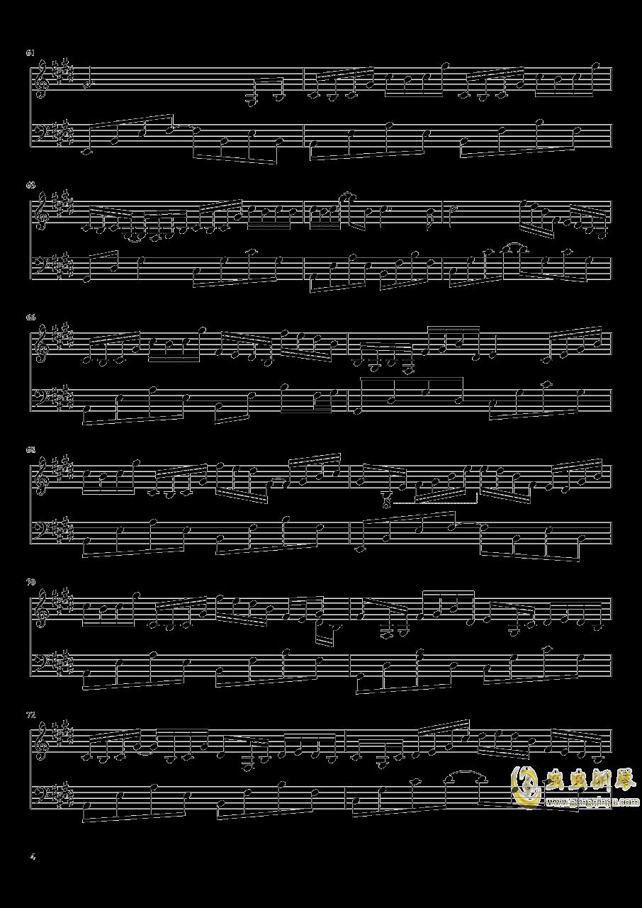 为霜钢琴谱 第4页