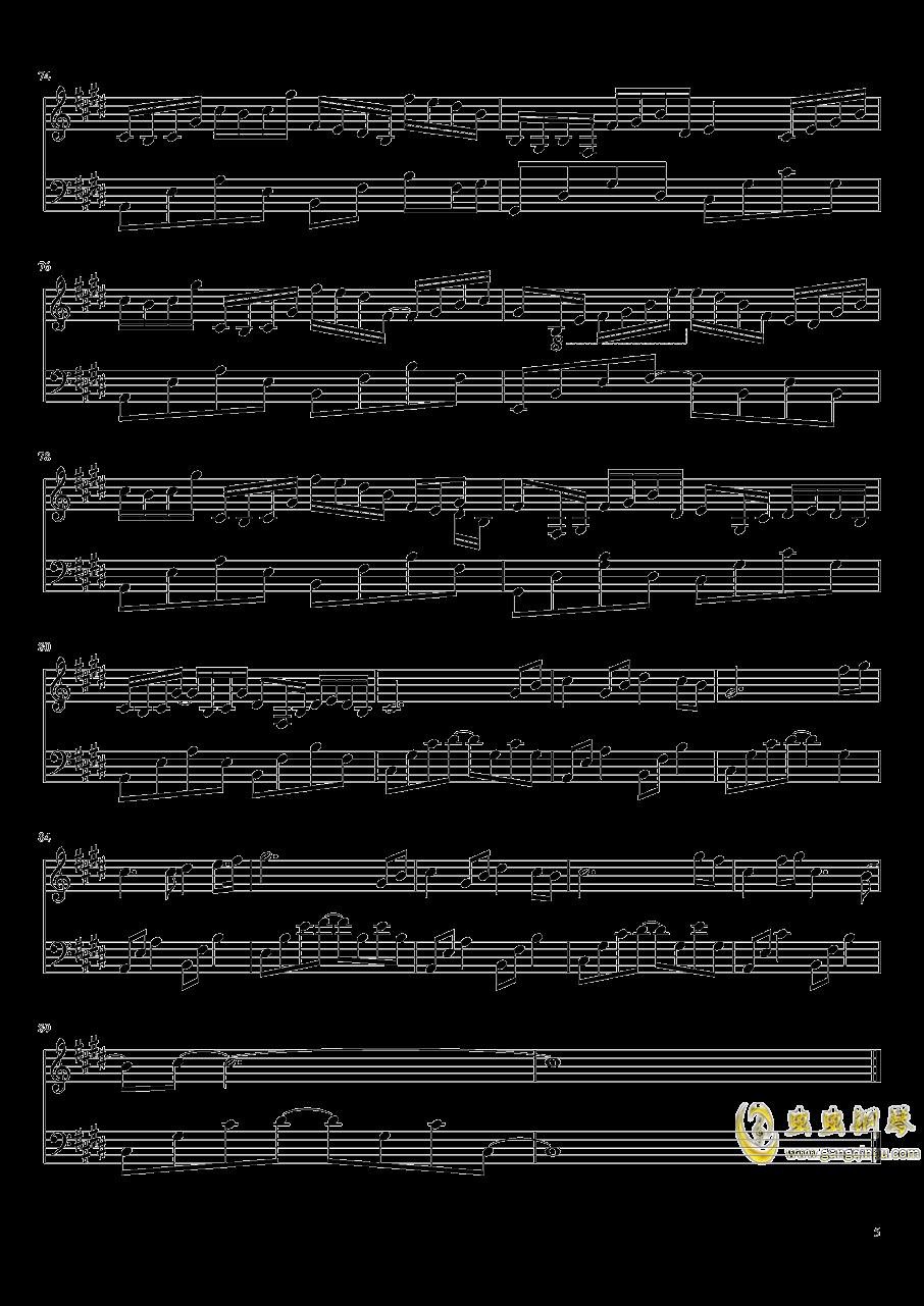 为霜钢琴谱 第5页
