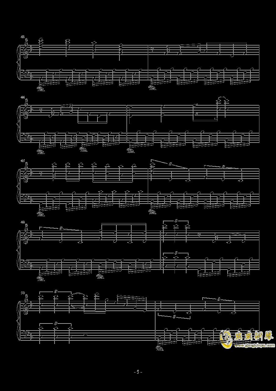 ぼなぺてぃ�`とS钢琴谱 第5页