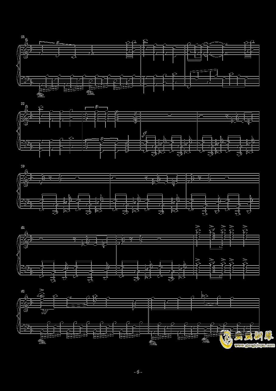 ぼなぺてぃ�`とS钢琴谱 第6页