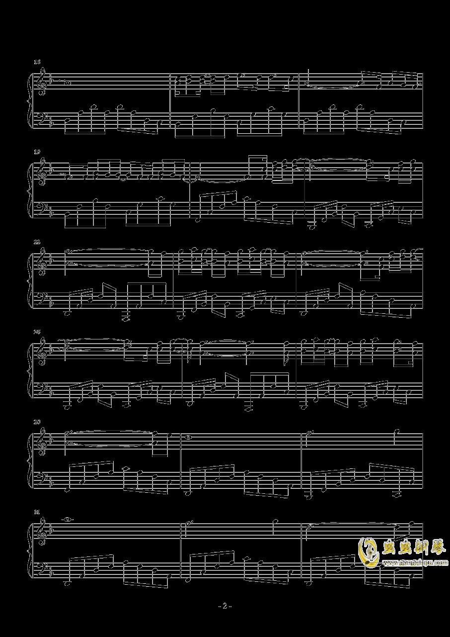 一颗星的夜钢琴谱 第2页