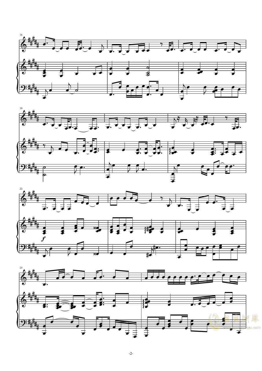 en - 嚣张【Cuppix编配】钢琴谱 第2页