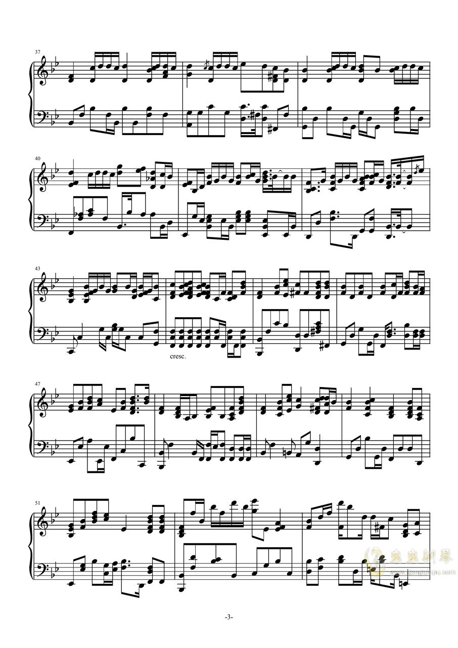 �f好不哭(高度�原版)【Cuppix�配】�琴�V 第3�