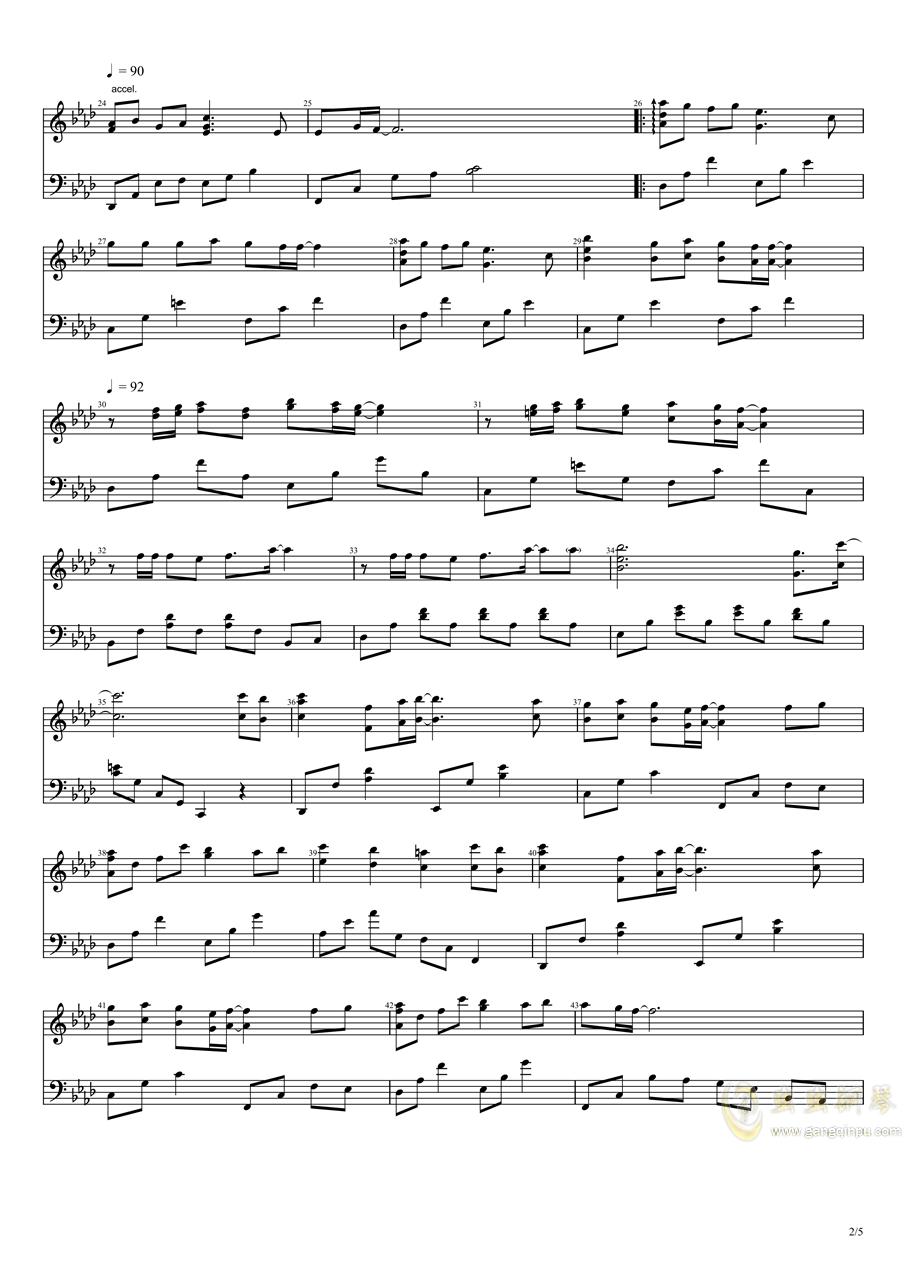 秋之回忆1钢琴谱 第2页
