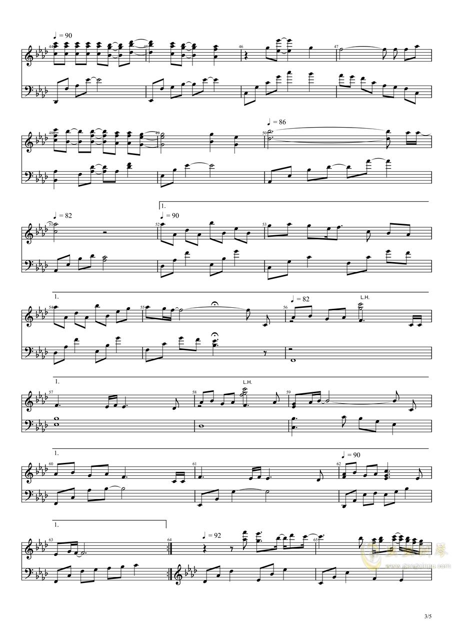 秋之回忆1钢琴谱 第3页