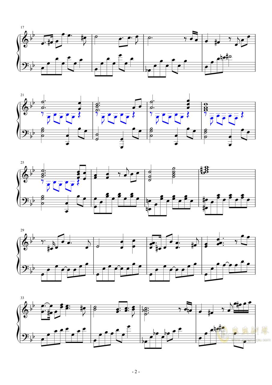 Lost Chair (OP)钢琴谱 第2页