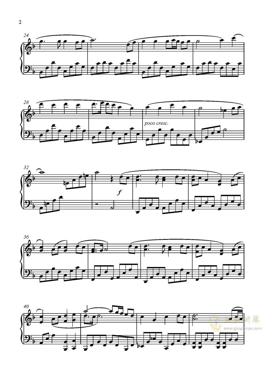 歌仙兼定钢琴谱 第2页