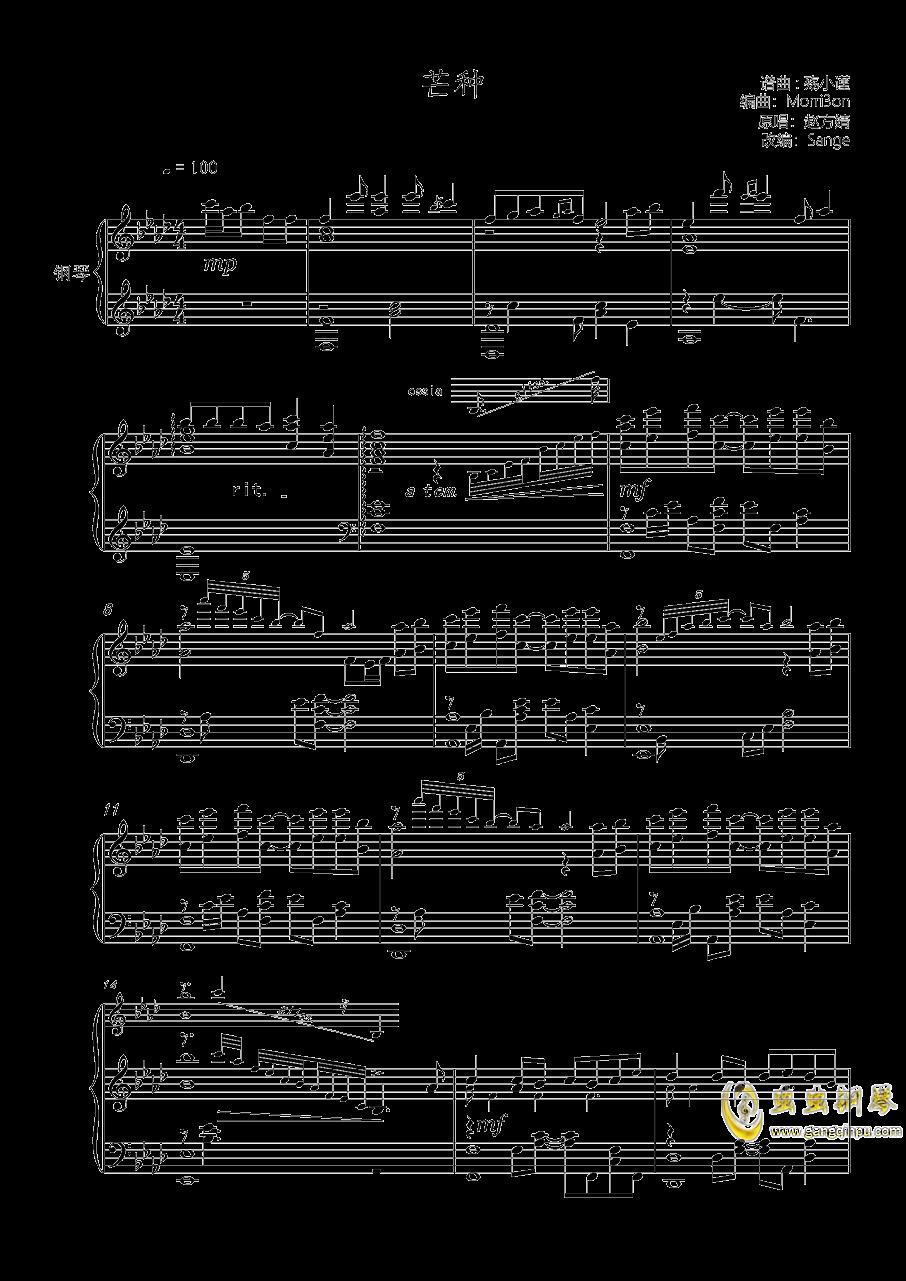 芒种钢琴谱 第1页