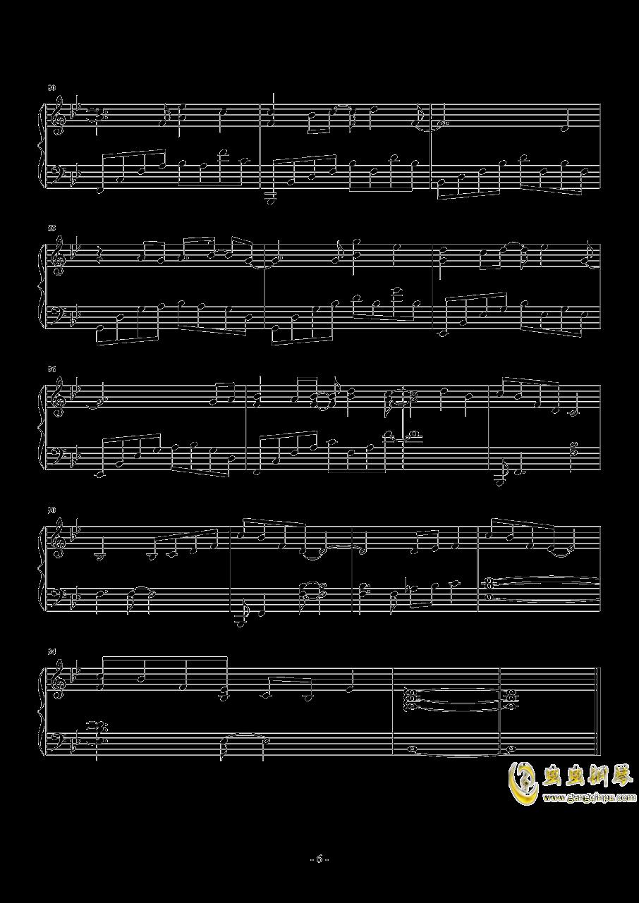 几个你钢琴谱 第6页