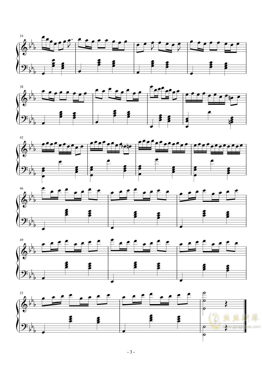 圆舞曲13钢琴谱 第3页