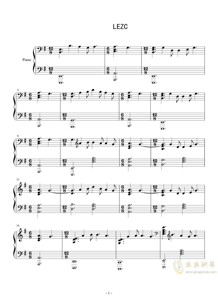 爱乐之城钢琴谱 第1页