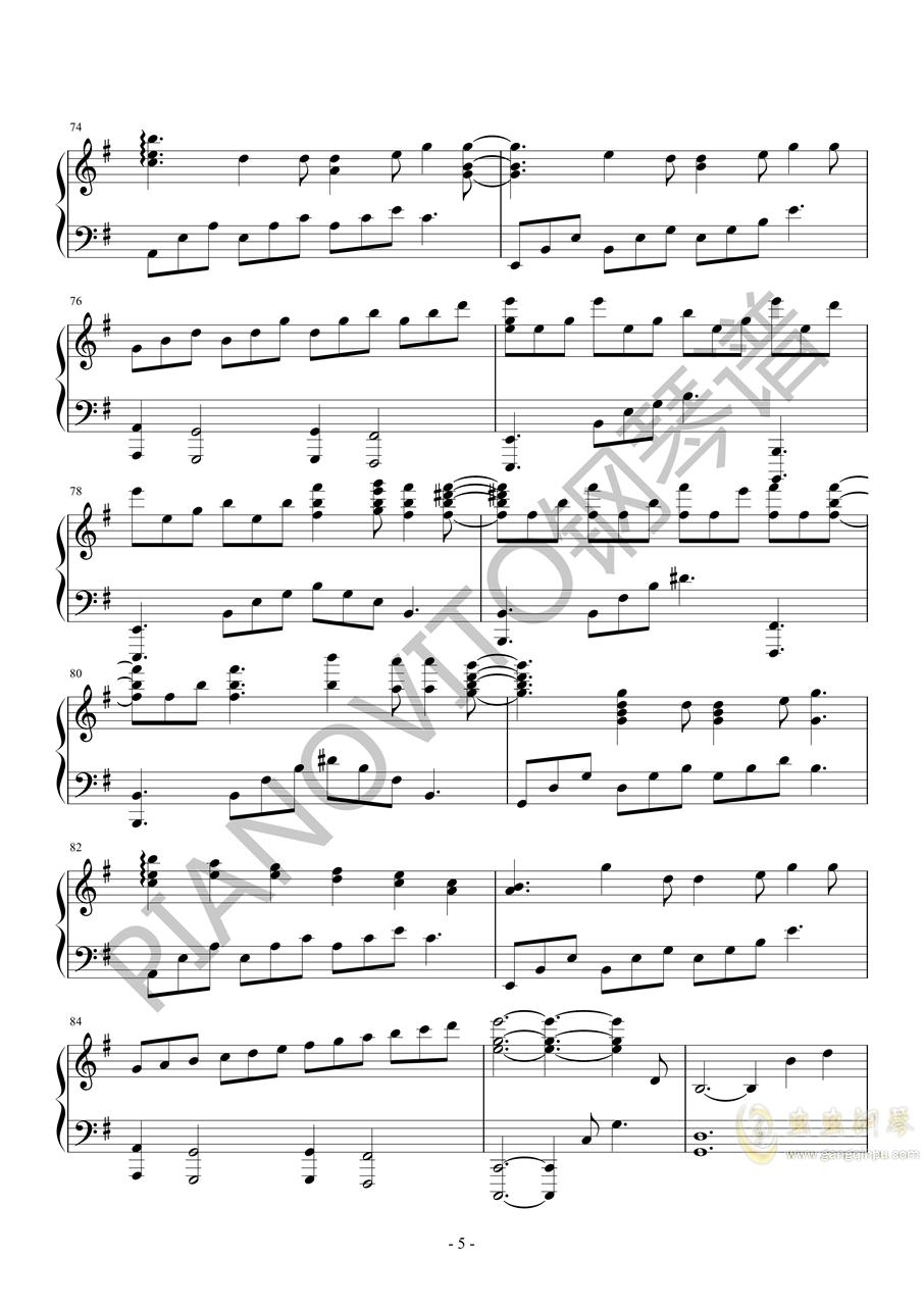 Light Years Away钢琴谱 第5页