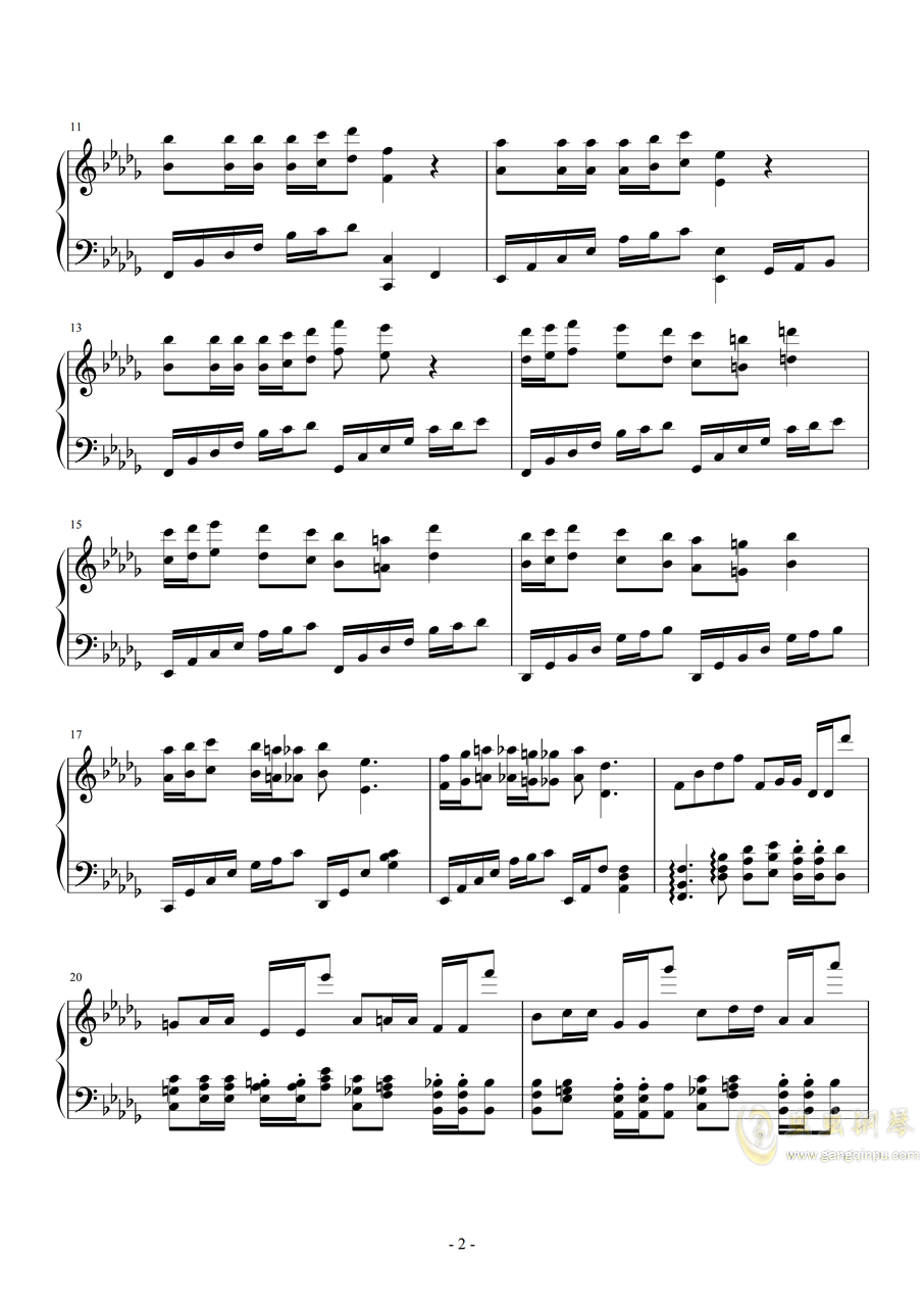 降b小调钢琴谱 第2页