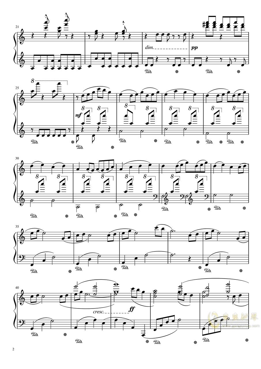 【天气之子OST】花火大会自扒谱 改编版钢琴谱 第2页