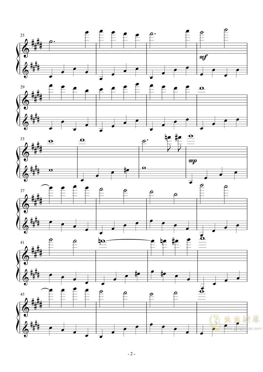 思い出をありがとう(谢谢你的回忆)钢琴谱 第2页